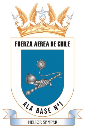 Coat of arms (crest) of the Ala Base 1 of the Air Force of Chile
