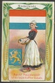 Arms, Flags and Folk Costume trade card Netherlands