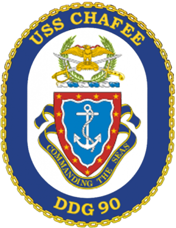 Coat of arms (crest) of the Destroyer USS Chafee (DDG-90)