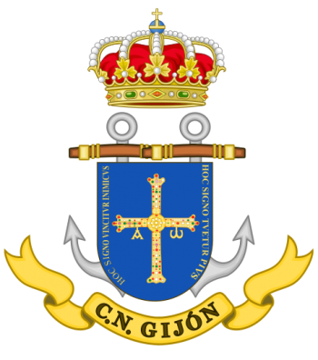 Coat of arms (crest) of the Naval command of Gijón, Spanish Navy