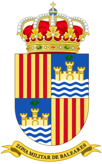 Coat of arms (crest) of the Balearic Islands Military Zone, Spanish Army