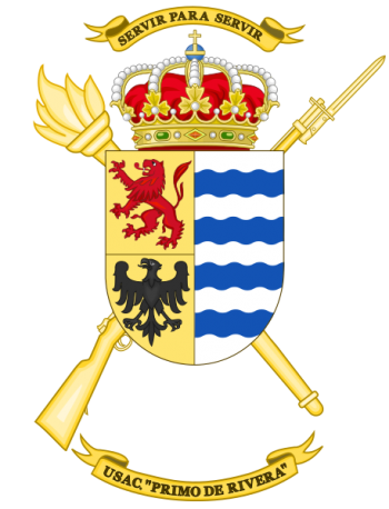 Coat of arms (crest) of the Barracks Services Unit Primo de Rivera, Spanish Army