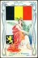 Arms, Flags and Folk Costume trade card Natrogat Belgien