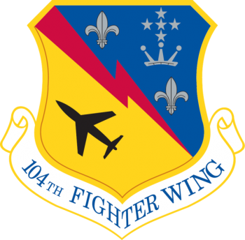 Coat of arms (crest) of the 104th Fighter Wing, Massachusetts Air National Guard