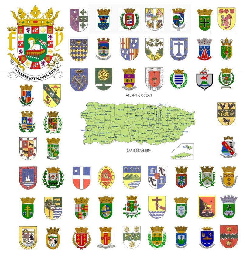 Coat of arms (crests) of Puerto Rico - Escudos de Puerto Rico