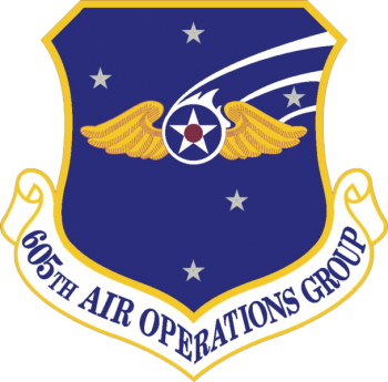 Coat of arms (crest) of the 605th Air Operations Group, US Air Force