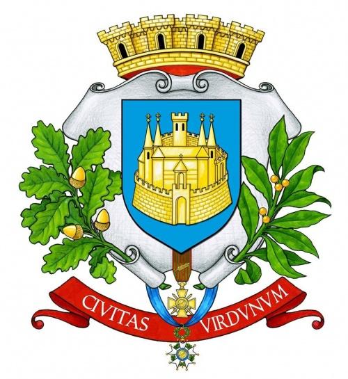 verdun (meuse) - blason (armoiries) de verdun (meuse) / coat of arms