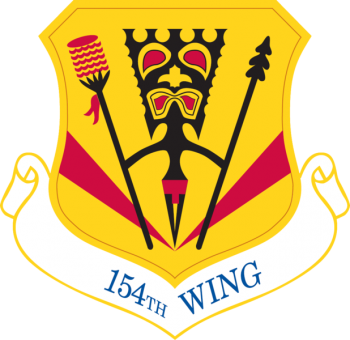Coat of arms (crest) of the 154th Wing, Hawaii Air National Guard