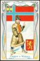 Arms, Flags and Folk Costume trade card Natrogat Norwegen