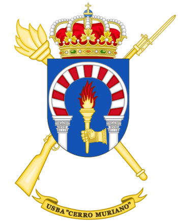Coat of arms (crest) of the Base Services Unit Cerro Muriano, Spanish Army