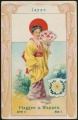Arms, Flags and Folk Costume trade card Natrogat Japan