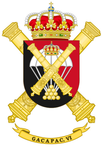 Coat of arms (crest) of the Parachute Field Artillery Group VI, Spanish Army