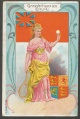 Arms, Flags and Folk Costume trade card Gross Britannien
