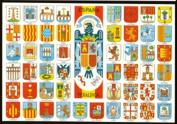 Arms of Heraldic postcards Spain