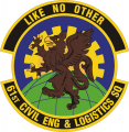 61st Civil Engineer and Logistics Squadron, US Air Force.png
