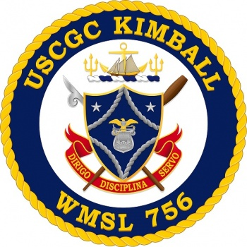 Coat of arms (crest) of the USCGC Kimball (WMSL-756)