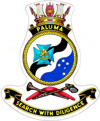Coat of arms (crest) of the HMAS Paluma, Royal Australian Navy