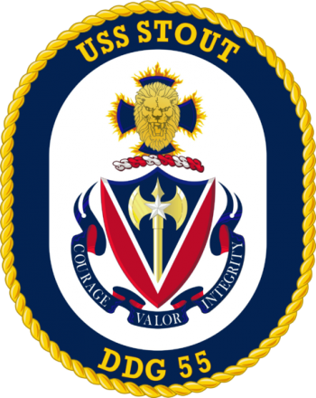 Coat of arms (crest) of the Destroyer USS Stout
