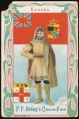 Arms, Flags and Folk Costume trade card