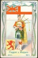 Arms, Flags and Folk Costume trade card Natrogat Schottland