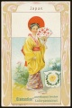 Arms, Flags and Folk Costume trade card Diamantine Japan