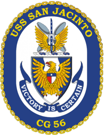Coat of arms (crest) of the Cruiser USS San Jacinto