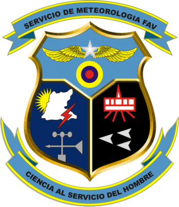 Coat of arms (crest) of the Meteorological Service, Air Force of Venezuela