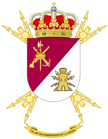 Coat of arms (crest) of the Signal Company No 2 of the Legion, Spanish Army