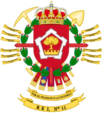 Coat of arms (crest) of the Specialist Engineer Regiment No 11, Spanish Army