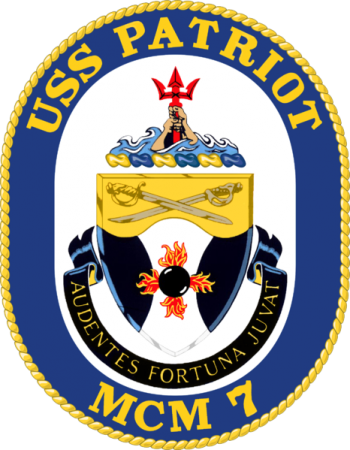 Coat of arms (crest) of the Mine Countermeasures Ship USS Patriot