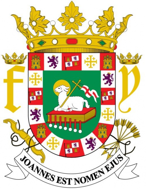 National Arms Of Puerto Rico Coat Of Arms Crest Of National Arms