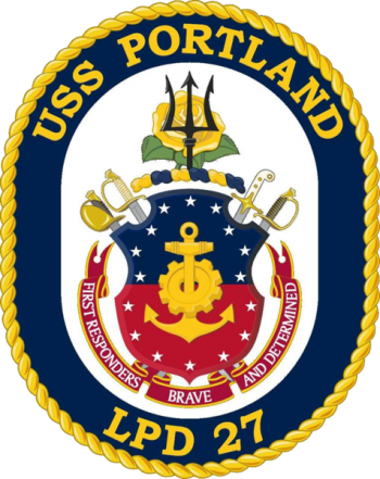 Coat of arms (crest) of the Ampibious Transport Dock USS Portland (LPD-27), US Navy