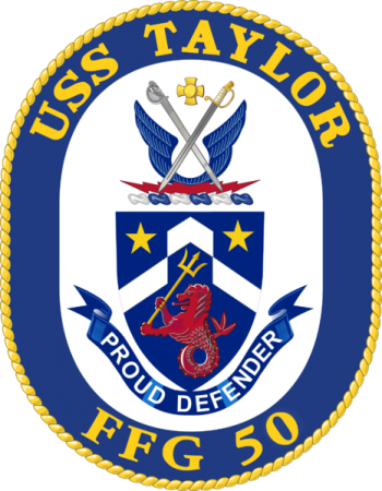 Coat of arms (crest) of the Frigate USS Taylor (FFG-50)
