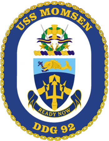 Coat of arms (crest) of the Destroyer USS Momsen (DDG-92)