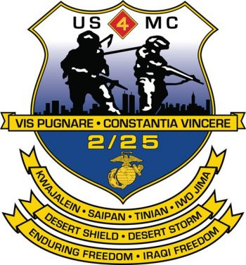 Coat of arms (crest) of the 2nd Battalion, 25th Marines, USMC