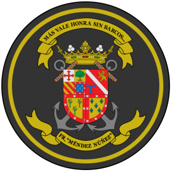 Coat of arms (crest) of the Frigate Méndez Nuñez, Spanish Navy