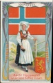 Arms, Flags and Folk Costume trade card Norway