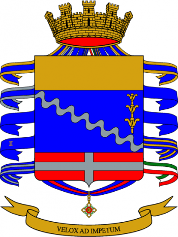 Coat of arms (crest) of the 8th Bersaglieri Regiment, Italian Army