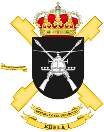 Coat of arms (crest) of the Attack Helicopter Battalion I, Spanish Army