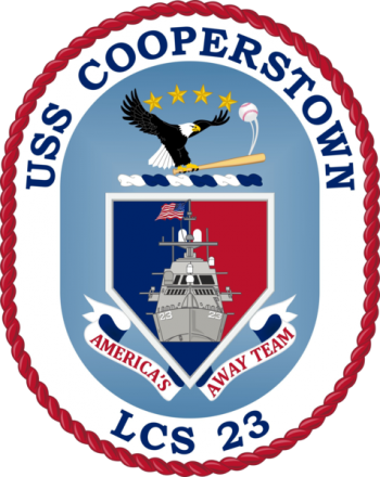 Coat of arms (crest) of the Littoral Combat Ship USS Cooperstown (LCS-23)
