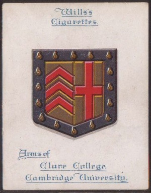 Arms of Clare College (Cambridge University)