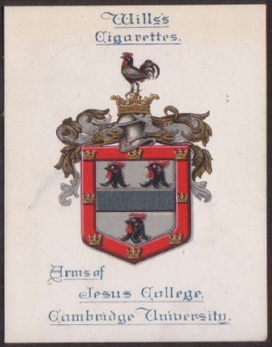 Arms of Jesus College (Cambridge University)
