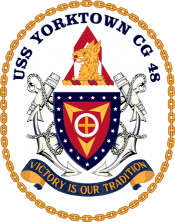 Coat of arms (crest) of the Cruiser USS Yorktown