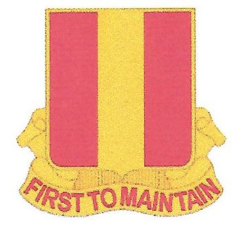 Arms of 1st Maintenance Battalion, US Army