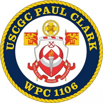 Coat of arms (crest) of the USCGC Paul Clark (WPC-1106)