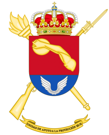 Coat of arms (crest) of the Projection Support Unit III-11, Spanish Army