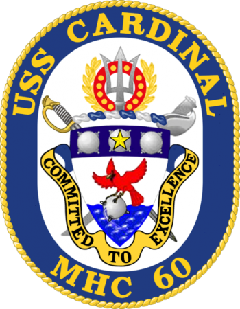 Coat of arms (crest) of the Mine Hunter USS Cardinal (MHC-60)