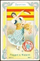 Arms, Flags and Folk Costume trade card Natrogat Spanien