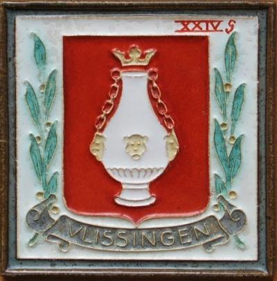 Vlissingen wapen van vlissingen coat of arms crest for Tegels vlissingen