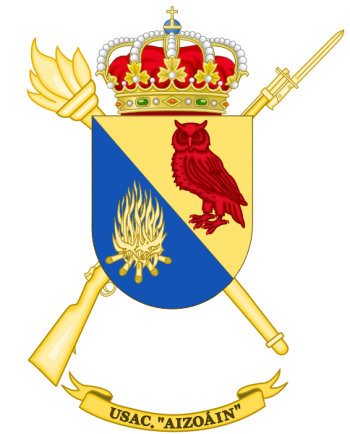 Coat of arms (crest) of the Barracks Services Unit Aizoáin, Spanish Army